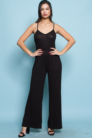 V-neck Solid Fit Sexy Jumpsuit