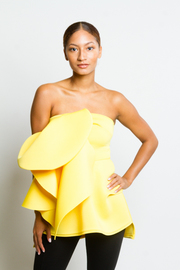 Cascading Unique Strapless Sexy Top