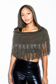 Warn Fringed Acrylic Hooded Shawl
