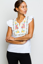 Embroidery Floral Summer Top