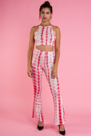 Tie Dye Cropped Pants Set