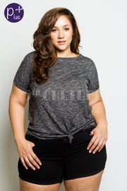 Plus Size Solid Knot Tie Top