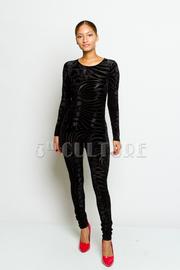 Trendy Design Velvet Sexy Fit Jumpsuit