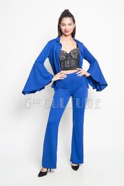 Bell Sleeved 2-Piece Blazer Pants Set