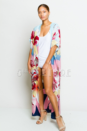 Floral Sheer Long Cardigan