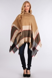 High Neck Keeping Warm In Winter Fringed Loose Poncho