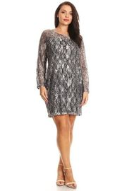 Plus Size Floral Laced Tunic Dress