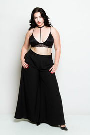Plus Size Super Flared Trendy Style Pants