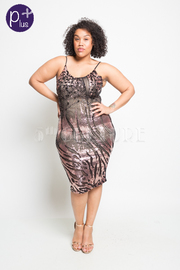 Plus Size Sexy Sequin Cocktail Bodycon Dress