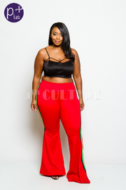 Plus Size Sporty Bell Bottom Style Pants