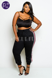 Plus Size Sporty In Style Jogger Pants