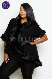 Plus Size Cozy Furry Stylish Poncho
