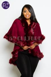 Plus Size Cozy Furry Stylish Poncho