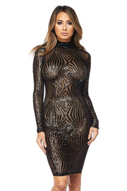 Sexy In Cocktail Shimmer Sequin Mini Mesh Dress
