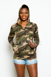 Camo In Style Hooded Sweater