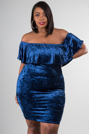 Plus Size Night Out Velvet Sexy Tube Dress