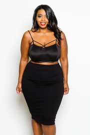 Plus Size Basic But Cute Pencil Skirt