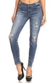 Ripped Knee Skinny Denim Jeans