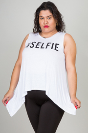 Plus Size Sleeveless Selfie Top