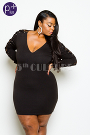 Plus Size Criss Cross Straps Tube Dress