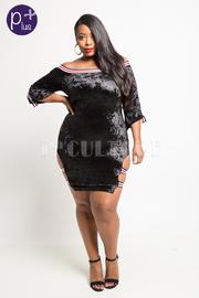 Plus Size Sexy In Sporty Velvet Mini Dress