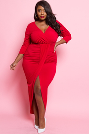 Plus Size Goddess Harem Maxi 3/4 Sleeved Dress