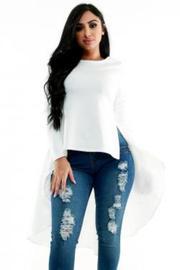 Hi Lo Trendy Long Sleeved Top