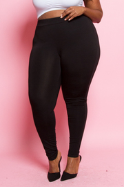Plus Size Solid Sexy Leggings