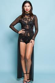 Seethrough Gorgeous bodysuit with maxi tail