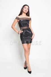 Sexy off shoulder mini dress