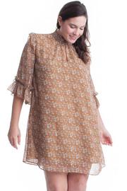 Plus Size A-line Floral Tunic Dress