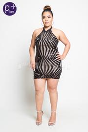 Plus Size Sequin Glam Mini Tube Dress