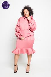 Plus Size Scuba Mermaid Sweater Midi Skirt Set