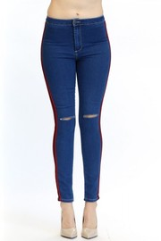 Plus Size Denim In Style Sporty Lined Joggers