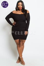 PLUS SIZE SEXY FITTED DRESS