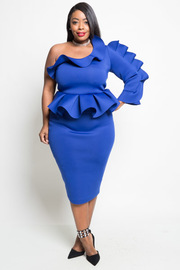 PLUS SIZE OFF SHOULDER SEXY DRESS