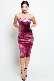 Classy Velvet Midi Tube Skirt