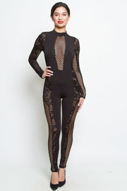 STYLISH MESH JUMPSUITSH