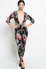 FLORAL LONG SLEEVE JUMPSUITS