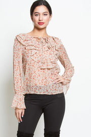 FLORAL RUFFLE BLOUSE TOP