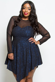 PLUS SIZE METALIC CUTE DRESS