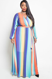 PLUS SIZE LONG SLEEVE STYLISH DRESS