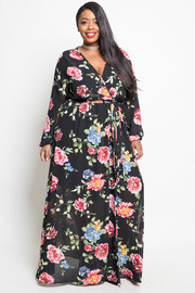 PLUS SIZE FLORAL GORGEOUS DRESS