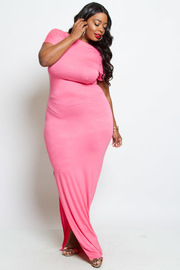 PLUS SIZE COMFY DRESS
