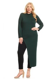 PLUS SIZE SIDE SPLIT LONG DRESS