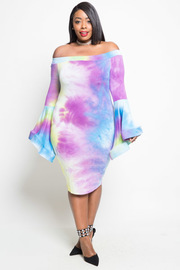 PLUS SIZE OMBRE STYLISH DRESS