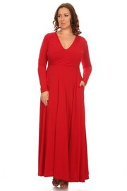 PLUS SIZE  Solid fit and flare maxi dress