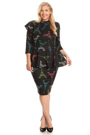 PLUS SIZE another featured half peplum on one shoulder DRESS