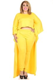 PLUS SIZE 2-piece set with TOP AND PANTS