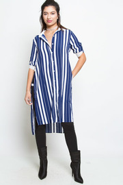 STRIPE PATTERN SHIRTS DRESS